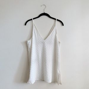 Topshop White Beaded Cami Top